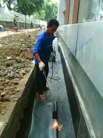 waterproofing membrane bakar pada saluran air