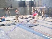 waterproofing membrane pada lantai kerja basement