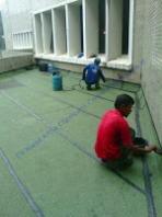 waterproofing membrane bakar pada dak beton